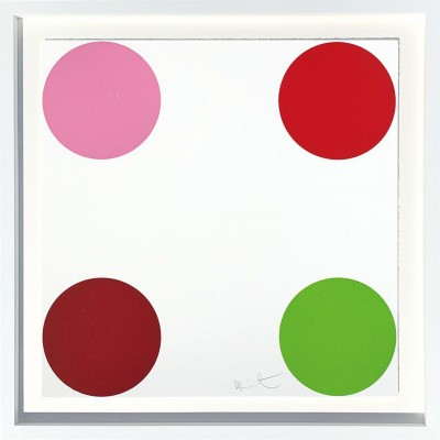 Damien Hirst - Curare 2011 Woodcut spots 42/55