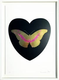 Damien Hirst - I Love You - black, cool gold, loganberry 2015 10/14