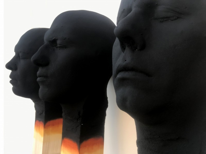 Wolfgang Stiller - Group of three Matchstickmen