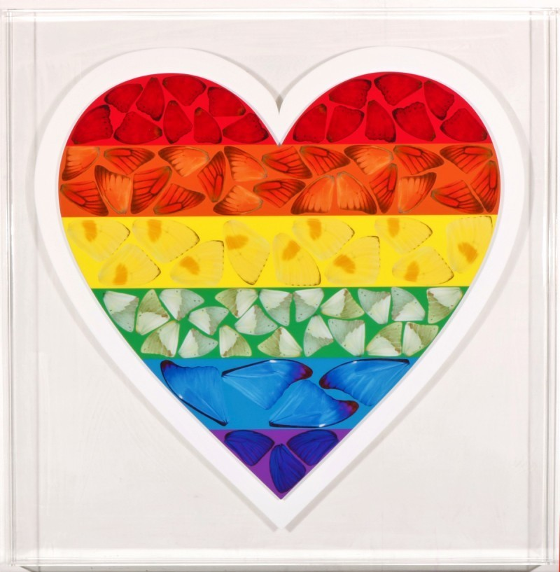 Damien Hirst - Butterfly Heart small (Limited ed.)