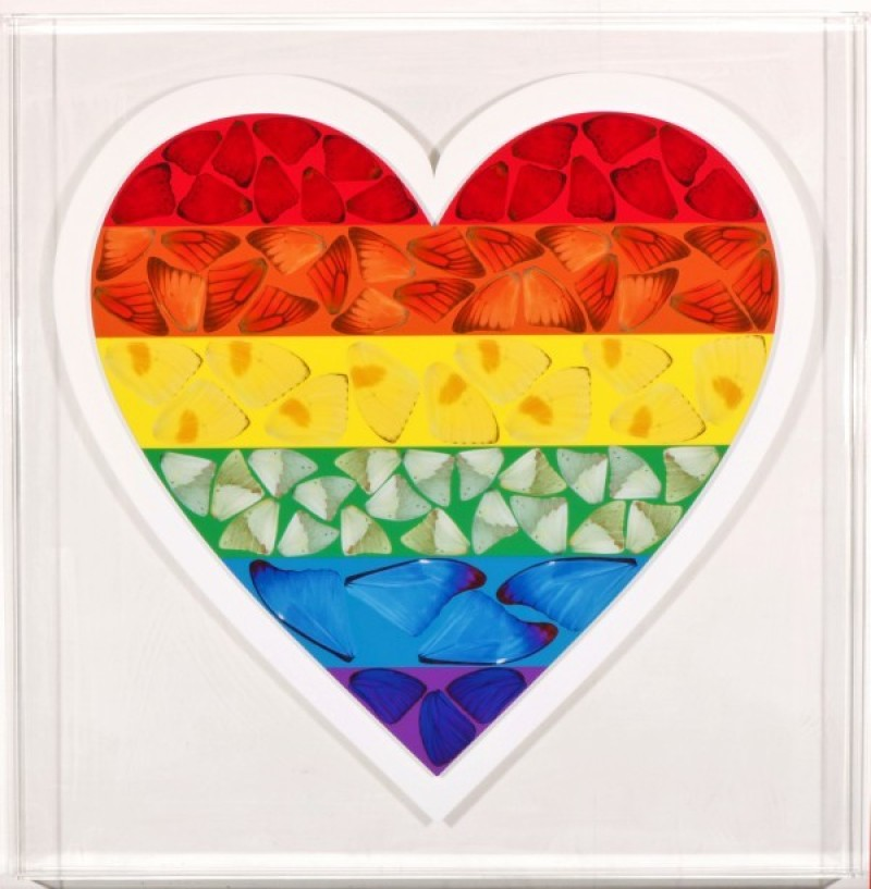 Damien Hirst - Butterfly Heart  (Limited edition)